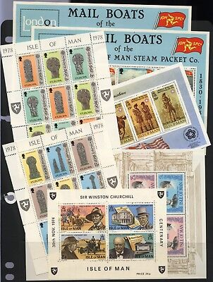 Isle of Man Collection 7 Mini Sheets Unmounted Mint