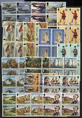 Isle of Man Collection Commemorative Stamps (Blocks / Pairs) Unmounted Mint