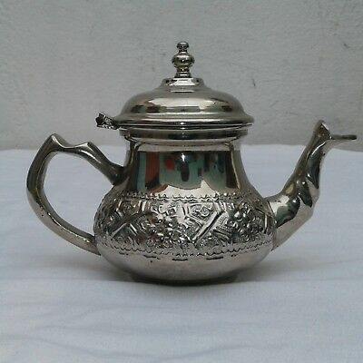 Silver plated brass jug of authentic moroccan heritage