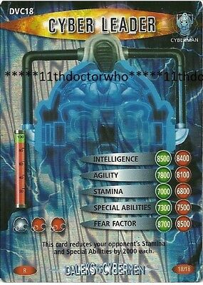 Dr Doctor Who BATTLES IN TIME DALEKS VS CYBERMEN Cyber Leader DVC18 WRR Variant