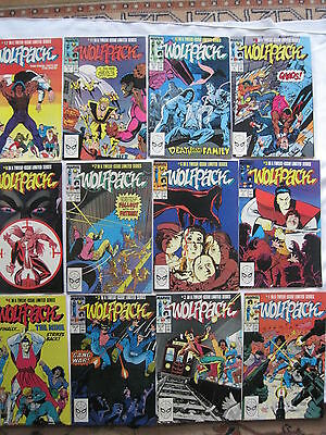 WOLFPACK : COMPLETE 12 ISSUE SERIES by HAMA,WILSON & BAKER.WOLVERINE.MARVEL 1988