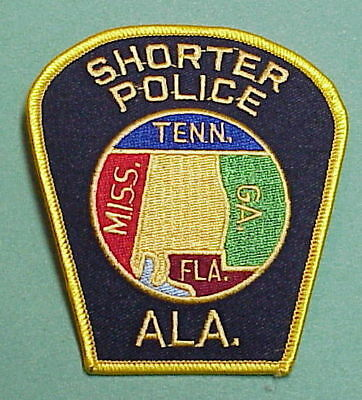 Shorter  Alabama  Al   Police Patch   Free Shipping!!!