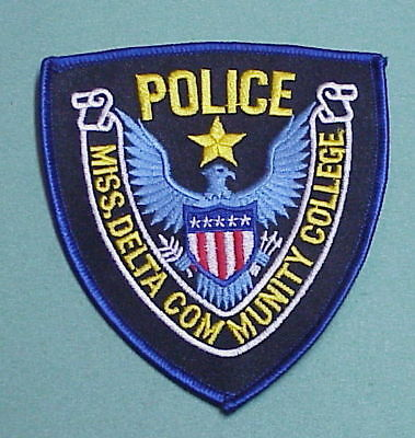 Mississippi  Delta Community College  Police Patch   Free Shipping!!!