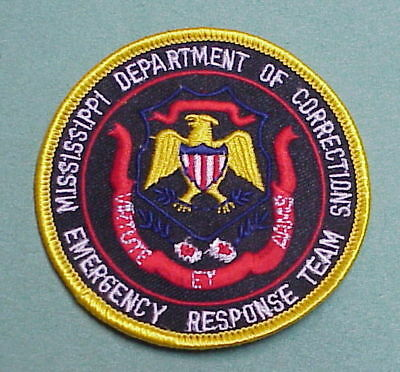 Mississippi  Ms  Dept. Of Corrections  Ert  Police Patch   Free Shipping!!!