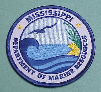 Mississippi  Department Of Marine Resources   Police Patch   Free Shipping!!!
