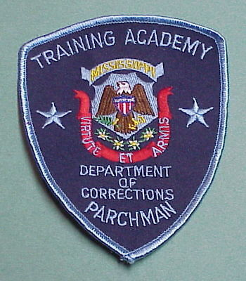 Mississippi Dept. Of Corrections Training Academy ( Blue Border )   Police Patch