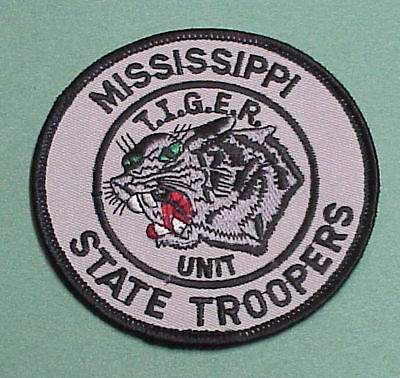Mississippi State Troopers  T.i.g.e.r. Unit   Police Patch   Free Shipping!!!