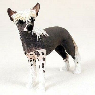 CHINESE CRESTED Dog HAND PAINTED FIGURINE Resin Statue COLLECTIBLE puppy NEW