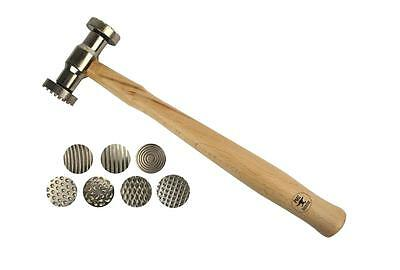 Texturing Pattern Hammer w/ 7 Interchangeable Faces Jewelry Making Metal Forming