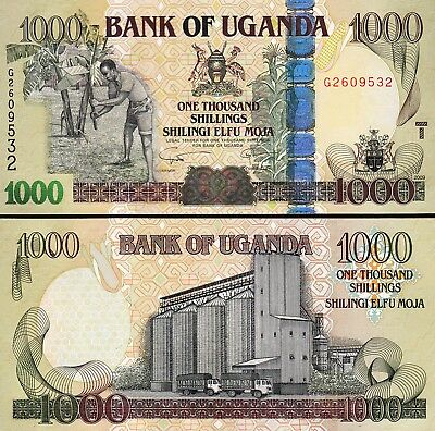 Uganda, 1000 Shillings 2009, Unc, Consecutive 5 Pcs Lot, P-43d
