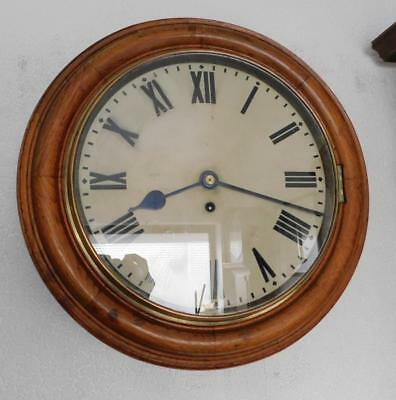 oak cased fusee dial clock with passing strike