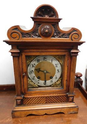walnut cased ting tang bracket clock c1900s