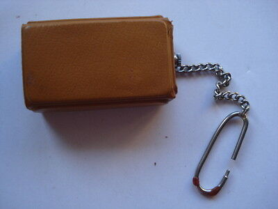 Vintage Old Russian Ussr Pocket/Traveling Clock Alarm Keychain Clock Luch Rare