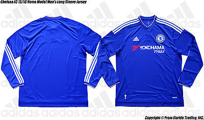 babcd966461 NEW ADIDAS MENS Chelsea FC 15 16 Long Sleeve Home Soccer Jersey ...