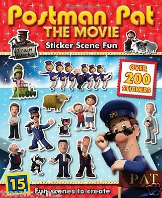 NEW  POSTMAN PAT the Movie - STICKER SCENE FUN  activity book 9781783436293