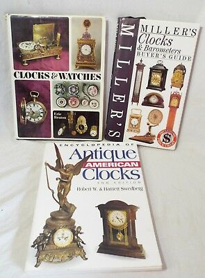 Lot of 3 CLOCK Price Guide & Identification BOOKS Watches Barometers MILLER'S