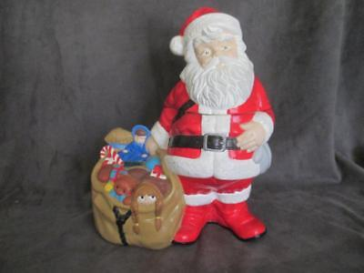 Vintage Twin Winton Santa Claus With Bag Of Toys Cookie Jar el