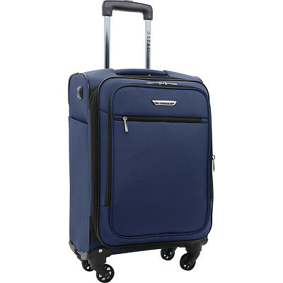 "Travelers Club Luggage Sabre 20"" Embedded USB Port Softside Carry-On NEW"