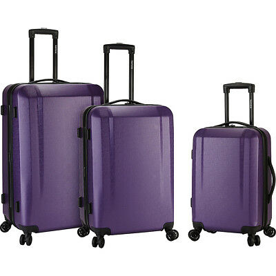 Kensie Luggage Victoria 3 Piece Expandable Hardside Luggage Set NEW