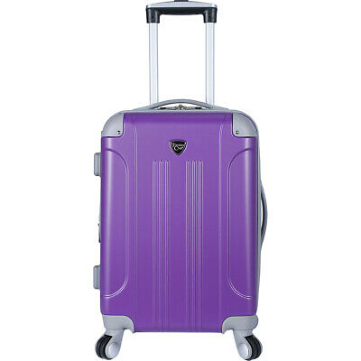 "Travelers Club Luggage Modern 20"" Hardside Colorblock Hardside Carry-On NEW"