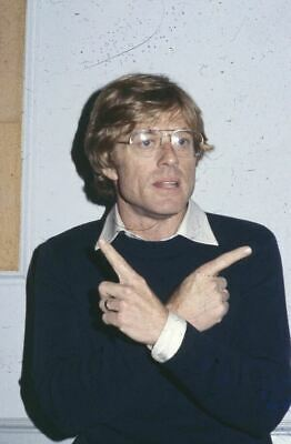 Robert Redford Cool Candid Vintage original Photo Transparency 35mm Slide