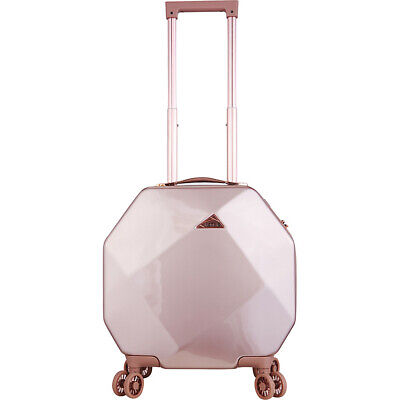 "Kensie Luggage Gemstone 20"" Dual Spinner Carry-On with Hardside Carry-On NEW"