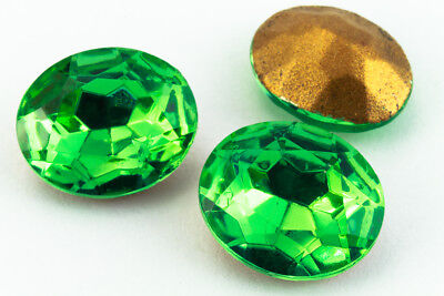 10mm x 12mm Peridot Faceted Oval Point Back Cabochon #XGP008-D