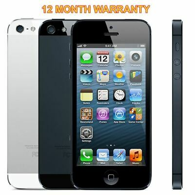 Apple iPhone 5 16GB 32GB 64GB Black White Unlocked Smartphone + 12M Warranty