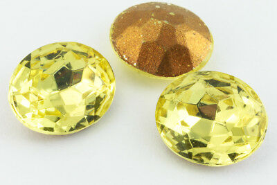 10mm x 12mm Jonquil Faceted Oval Point Back Cabochon #XGP008.5-G