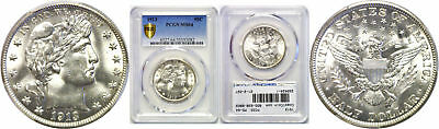 1913 Barber Half Dollar PCGS MS-64