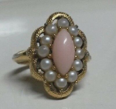 Vintage Estate 1972 Avon Serena Ring With Original Box. Size 7 (Os52)