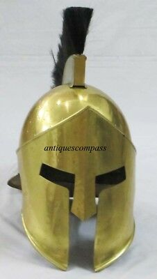 Roman Medieval Armor Greek King Leonidas Movie 300 Spartan Helmet W Plume &Stand