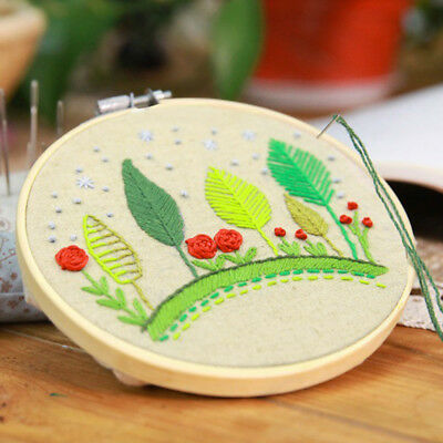 Embroidery Hoop Wooden Cross Stitch Frame Craft Tool Ring Set Professional DIY