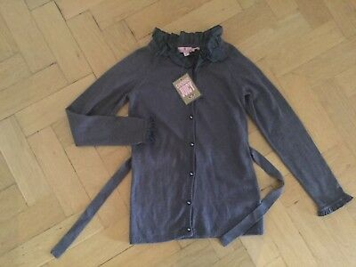 NWT Juicy Couture New & Genuine Grey Cotton Long Sleeved Cardigan Girls Age 8