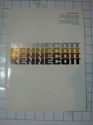 1970 KENNECOTT Copper Corp vintage mining mine industry ANNUAL REPORT booklet