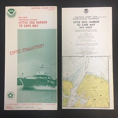 "1976 Nautical Chart/map 12316 W/cover 15X58"" Ex!!! New Jersey Cape May 10318"
