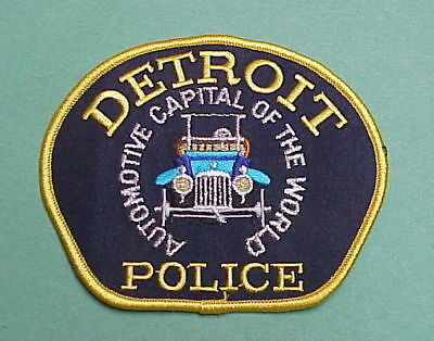 Detroit  Michigan  Mi Automotive Capital Of The World  Police Patch  Nice!!