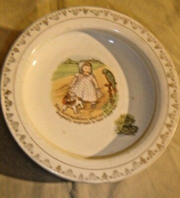 """Holdfast Baby Plate with Hanger  """"Baby Bunting and Bunch , 043"""