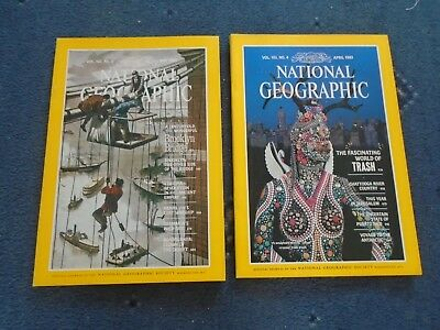2 x NATIONAL GEOGRAPHIC MAGAZINE APR MAY 1983