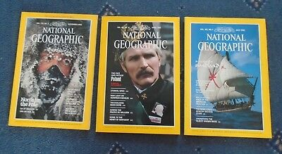 3 x NATIONAL GEOGRAPHIC MAGAZINE APR JUL 1982 SEPT 1986