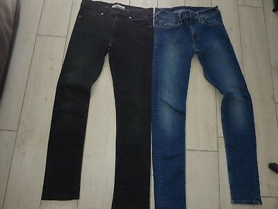 Lot 2 Jeans : Pepe Jeans + Teddy Smith Taille 16/18Ans