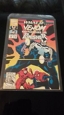 1992 Marvel WHAT IF #44 VENOM HAD POSSESSED THE PUNISHER DAREDEVIL SPIDER-MAN