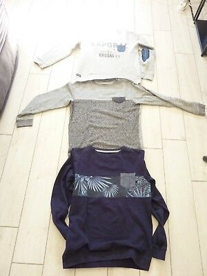 Lot 3 Pulls+ 1 Ts : Quicksilver / Kaporal Taille 14 Ans