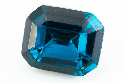 10mm x 12mm Montana Sapphire Faceted Octagon Point Back Cabochon #XGP018-G