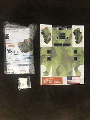 Home Depot Kids Workshop Humvee Hummer Collectible Lapel Pin  Wood project ,