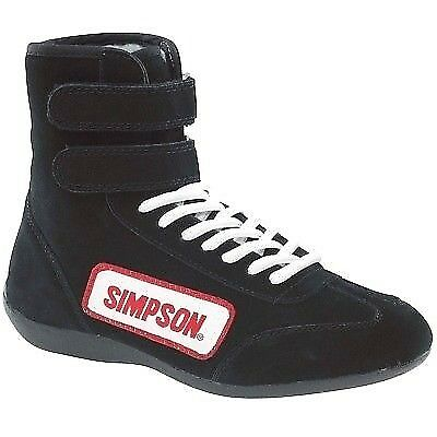 Simpson 28900BK Black High Top Race Driving Shoes SFI Rated Size 9