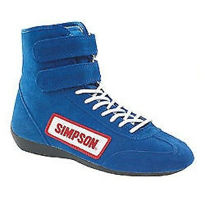 Simpson Safety 28900BL Blue High Top Race Driving Shoes SFI Rated Size 9