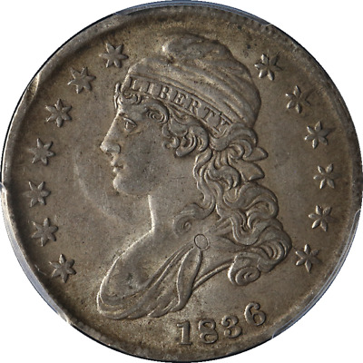 1836 Bust Half Dollar Lettered Edge CAC Sticker PCGS AU55 0-115 R.3 Nice Strike
