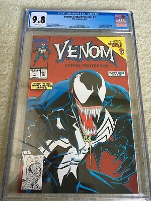 VENOM: Lethal Protector #1 CGC 9.8 + #3 Hot books new case movie on the way