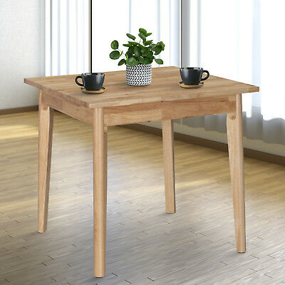 HOMCOM Solid Wood Dining Table Compact Square Kitchen Desk 80Lx80Wx75H cm